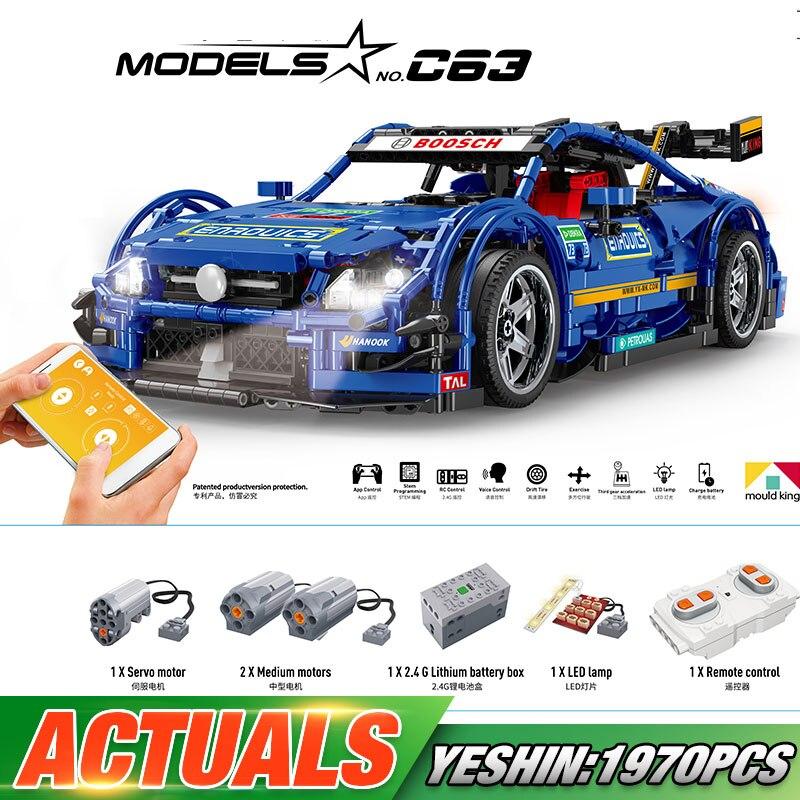 20005 DHL Yeshin Technic Compatible With New MOC 6687 Blue Racing Car Set Building Blocks Bricks