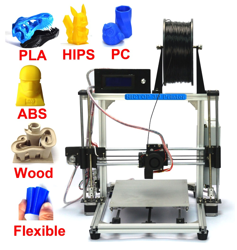 HICTOP Prusa i3 3d printer with Multifunction Auto leveling 3d printer Aluminum 3d printer with large buid size 270x210x200mm