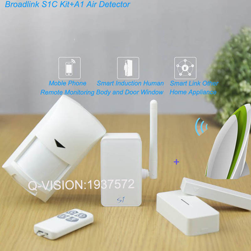 Broadlink A1 Air Detector+Smart Home Automation Kit,SmartONE S1C PIR Motion&Door Sensor Alarm Security System APP Remote Contorl