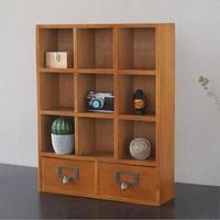 Tipo de gaveta de madeira maciça armário de armazenamento de madeira armário de armazenamento de madeira pendurado armário de parede retro display pequeno armário de madeira Cestos e caixas de armazenamento    -