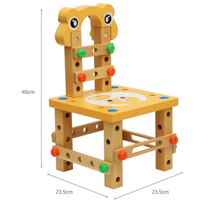 Montessori pour enfant jouets éducatifs pour enfants chaise designer ensemble d'outils jouets en bois cadeaux pour filles garçons expédition de la russie - 5