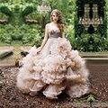 Luxury Ball Gown Princess Cloud Wedding Dresses 2017 Sexy Bridal Gowns Casamento Vestidos de Noiva Sleeveless Long Party Dress