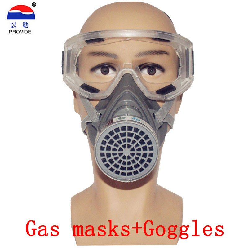 PROVIDE respirator gas mask + goggles Brand protection high quality respirator mask against Painting pesticide gasmaske high quality respirator gas mask brand practical type protective mask painting pesticide industrial safety chemical gas mask