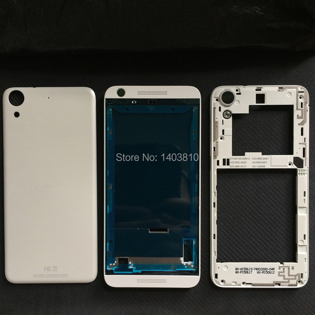 New For HTC Desire 626 626S Single SIM Card Full Housing Battery Cover Rear Door Case + Front Frame Face with Original LOGO