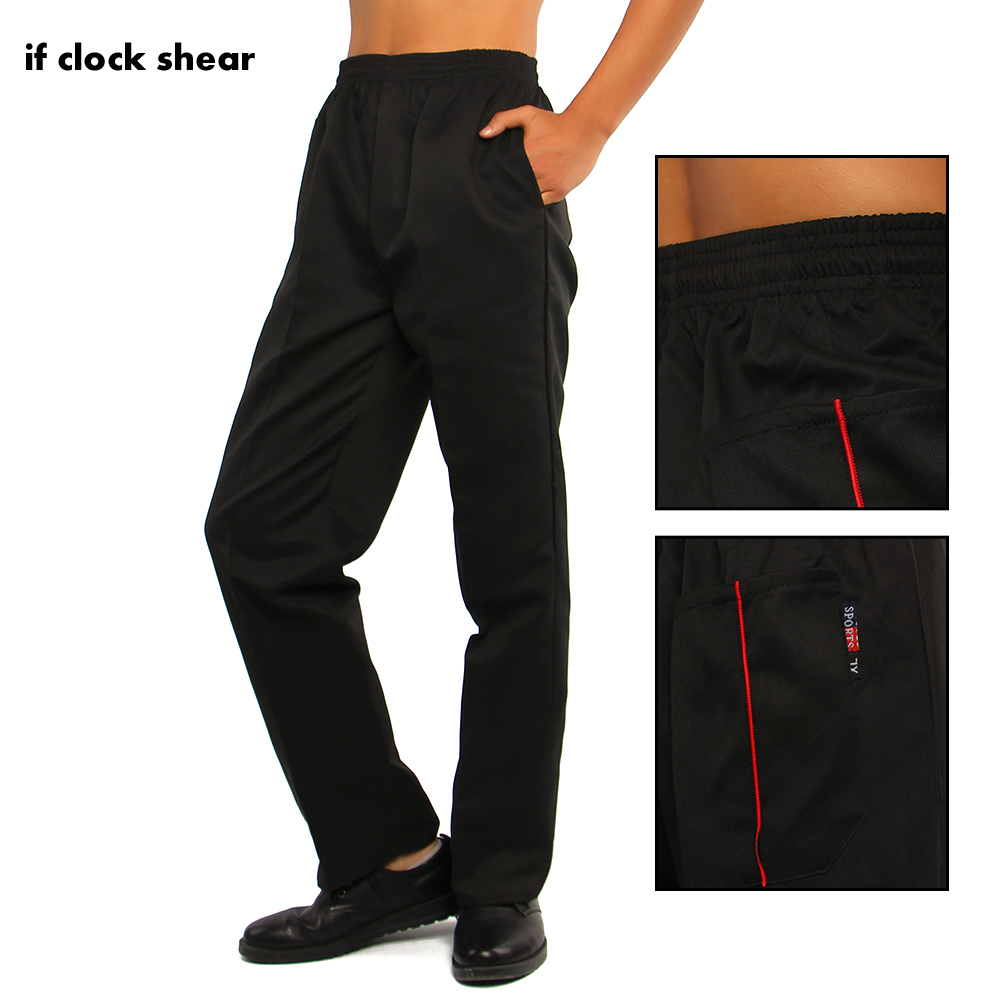 IF Elastic Peppers Restaurant Kitchen Pants Chef Trousers Food Service Striped Pants Bakery Stretch Work Wear Uniform Cook L-5XL