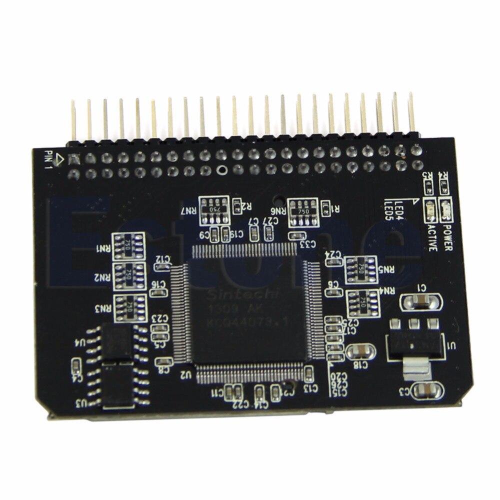Nueva SD/Micro sd tarjeta de memoria a 2,5 44pin IDE adaptador lector portátil caliente
