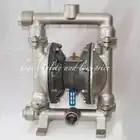 DN15mm 304 roestvrij staal Natuurlijke kleur rvs membraanpomp met F46 membraan - 1