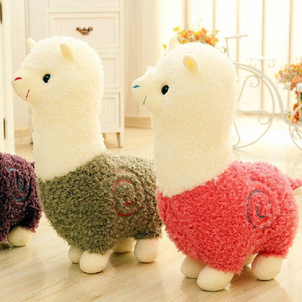 1pc 8'' 20cm Cute Alpaca Plush Toys Doll Staffed Alpaca Animal Sheep Home Decoration Children Birthday Gift 12cm alpaca plush lamb stuffed animal doll cute alpaca stuffed animal toys alpaca animal sheep cell accessories
