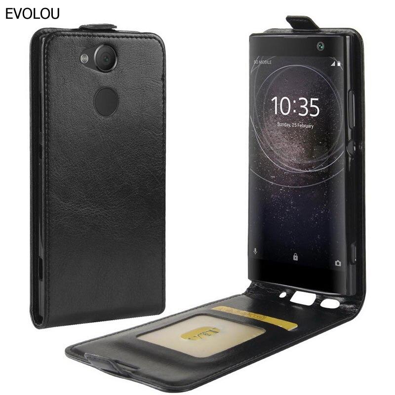 Capa de Couro Vertical Flip Para Sony Xperia Caso XA2 H4133 H4113 H3113 5.2 polegada Para Cima Para Baixo Estojo De Couro Para Sony XA2 Saco Do Telefone da pele