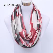 Classics Fashion Plaid Style Infinity Scarfs Winter Warm Plaid Woman Tube scarf font b Tartan b