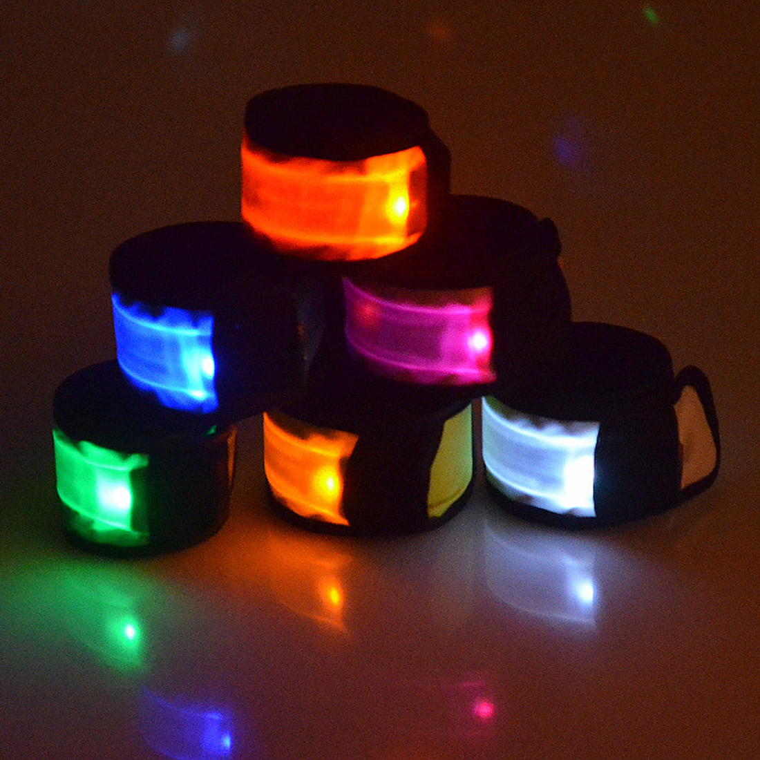 Hot Sale Hot Selling Led Wristband Bracelet Light Glow Led Flashing Night Armband Rave Party Fun Multi Colors