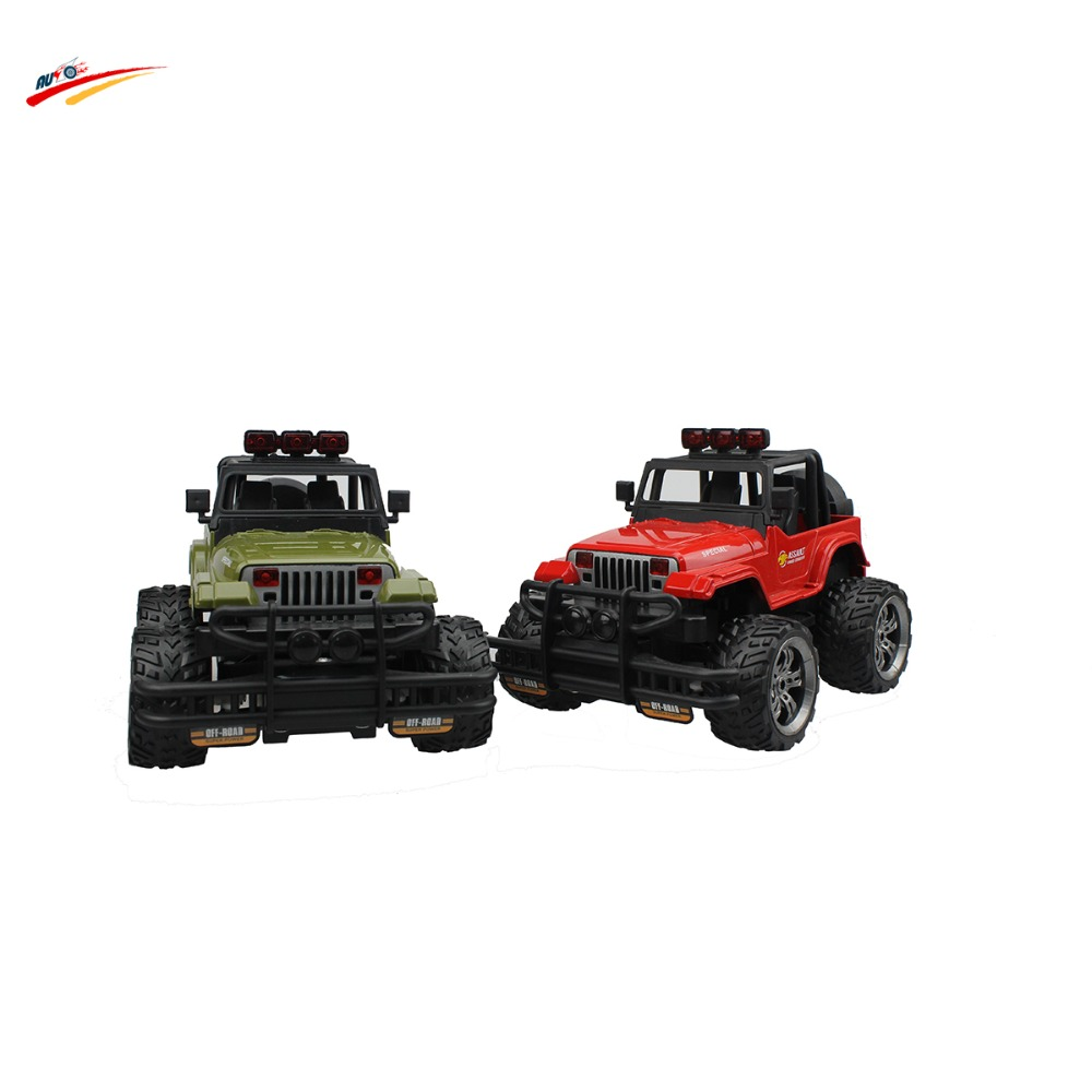 1 20 2 4G Jeep Wrangler Sport Utility Vehicle 4CH Radio Control Monster Truck Snow Leopard