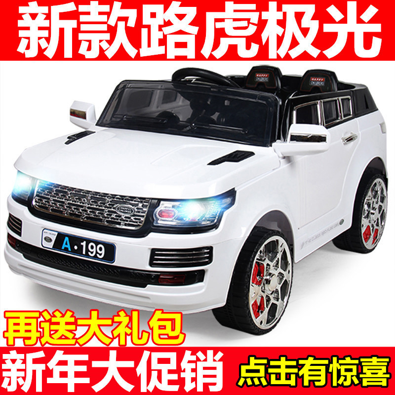 landrovera199 four pairs of children electric car remote control car can drive off road ride