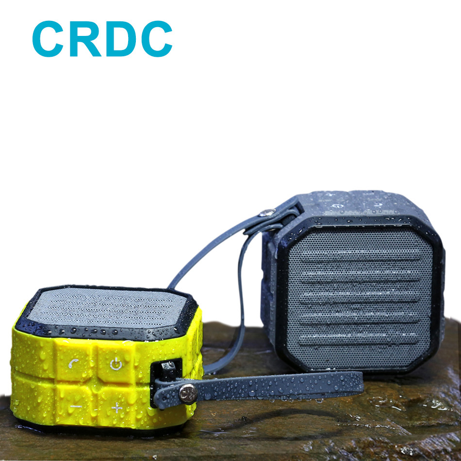 CRDC Portable Bluetooth Speaker 3D Stereo Waterproof Bluetooth Column For Xiaomi Smartphones Computer Mini Bass Wireless Speaker tronsmart element t6 mini bluetooth speaker portable wireless speaker with 360 degree stereo sound for ios android xiaomi player