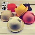 Verano niña y del muchacho de moda Coreano de los niños de dibujos animados con forma de animales panda Orecchiette sombrero sombreros del cubo casquillo del sol del bebé