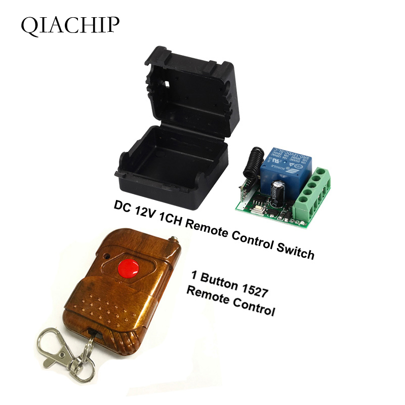 QIACHIP 433Mhz Universal Wireless RF Remote Control Switch DC 12V 10A 1CH Relay Receiver Module and 433.92 Mhz Remote Controls image