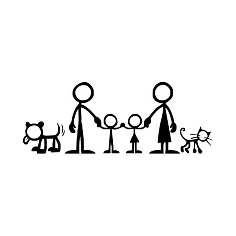 21 8cm Creative Family Portrait Of Car Stickers Covering