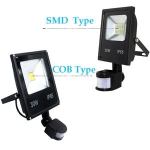 Image 3 - AC110V 220 Ultradunne 10 w 20 w 30 w 50 w LED Schijnwerper Met PIR Motion Sensor Detector waterdicht Spotlight outdoor IP65 Lampen