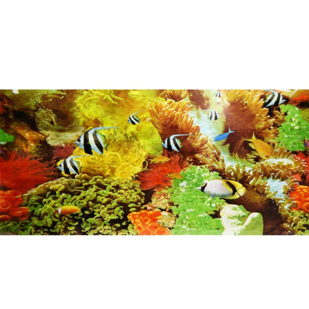 Online Shop 2017 Double Sided PVC Aquarium Background Poster ...