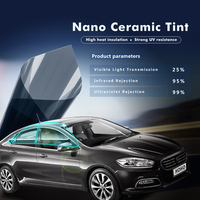 20 X60 0 5x1 52m Black Color Nano Ceramic Tint Window Solar Film 25 VLT