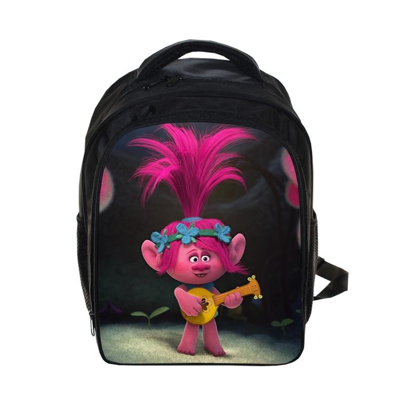 Lovely Trolls Printing Backpacks Bag Schoolbags Mochila Casual Rucksack Travel Daypack For School Kindergarten Girls Boys