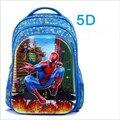 Дети 5D человек-паук школьные сумки Мультфильм человек-паук печать ранцы дети рюкзак для девочек и мальчиков, mochila infantil