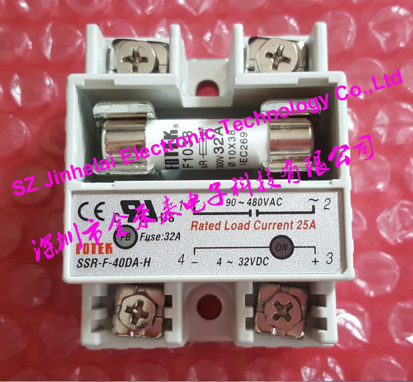 New and original FOTEK Semiconductor fuse restricted solid state relay  SSR-F-40DA-H 100% new and original fotek photoelectric switch a3g 4mx mr 1 free power photo sensor