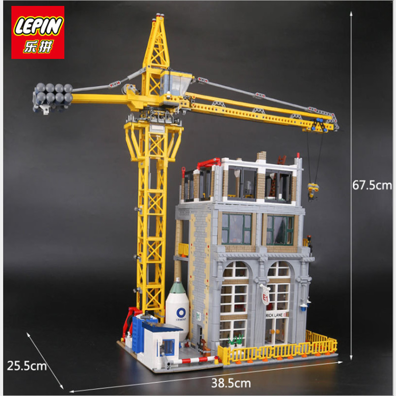 IN STOCK LEPIN 15031 4425Pcs Genuine MOC Series The Classic Construction site Building Blocks Bricks Toys Model Christmas Gifts in stock lepin 23015 485pcs science and technology education toys educational building blocks set classic pegasus toys gifts