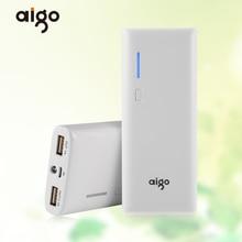 Aigo K112 Портативный 11200 мАч 3.7 В большой Ёмкость белый автоматическое отключение Запасные Аккумуляторы для телефонов светодиодный фонарик для мобильного телефона Планшеты PC