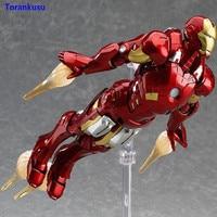 Avengers Endgame Iron Man Figma 217 Anime Figure PVC Ironman Action Figure Collectible Toy Model Hot Toys Gift Children Doll XP
