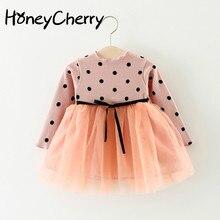 2020 Children's dress Clothing Wholesale New Dots Stitching