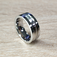 8mm Men's Cobalt Chrome Rings Comfort Fit Wedding Engagement Band Size 7 to 13