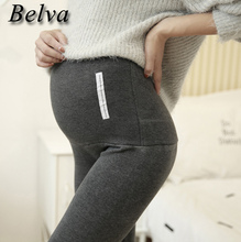 Belva 2017 Maternity Pants New Cotton Thicking Autumn Winter Leggings Tops Fashion Clothing for Pregnant pants 709