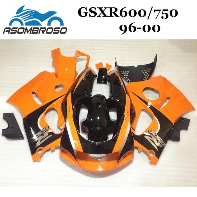 Customized Fairing Kits For Suzuki 1996 1999 2000 GSXR750 GSXR600 96 97 98 99 00 GSXR 750 Orange Cheap Motorcycle Fairings Parts