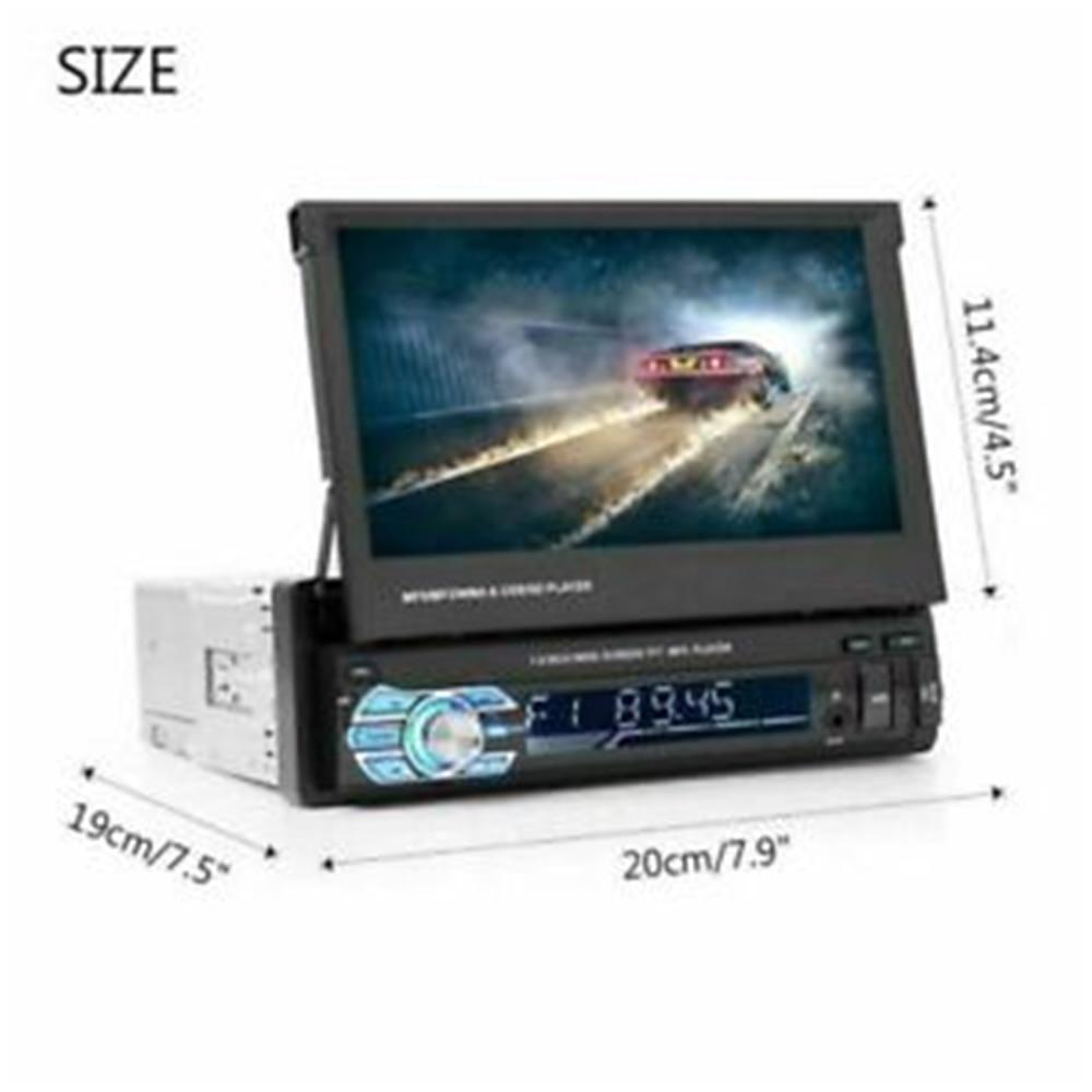 Podofo 1din coche Radio navegación GPS 7 HD retráctil pantalla MP5 reproductor Bluetooth Estéreo espejo enlace Autoradio cámara de visión trasera - 5
