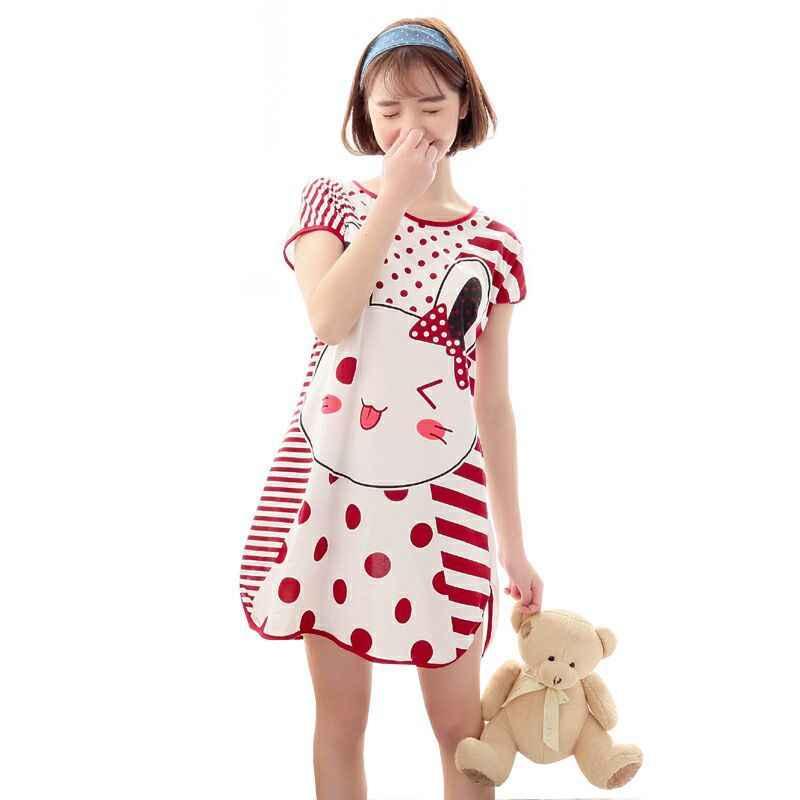 נשים פיג 'מה סתיו חדש דק Cartoon מיקי מיני מודפס קצר שרוול חמוד הלבשת מזדמן Homewear פיג' מת נקבה שיין