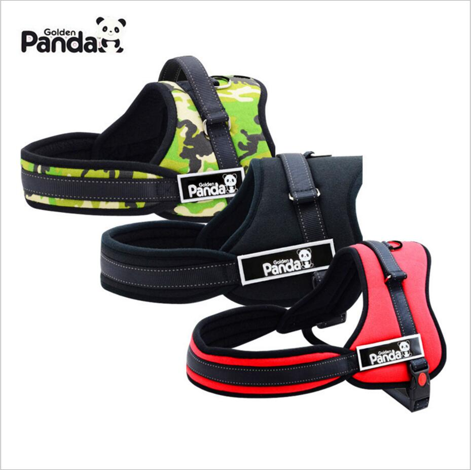 NEW Quality Soft Padded Large Dog Harness Reflective Pet Adjustable Safety Harness Chest Size 3 Color S M L XL