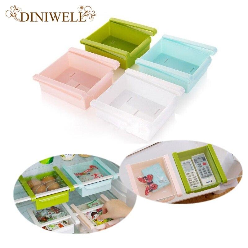DINIWELL Plástico Cocina Nevera Nevera Congelador de Almacenamiento En Rack Esta