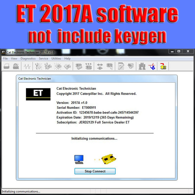 US $31 9 |For Caterpillar 2019A Cat ET ET3 Electronic Technician Diagnostic  Software with Unlock KeyGen Active + Video-in Software from Automobiles &