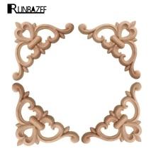 Figurine Craft Miniature RUNBAZEF Wood Funko-Pop Decorative-Decals Applique Home-Furnishing-Decoration
