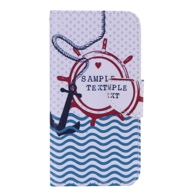 Flip Leather Cover Case for Samsung Galaxy J7 2015 J 7 SM-J700 J700 J700F J700H SM-J700F SM-J700H SM-J700M Duplex Painting Phone