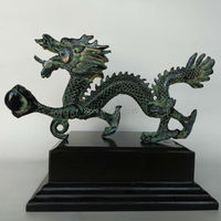 Free shipping Chinese Antique Bronze Lucky Dragon Statue Tabletop Home Decoration Beautiful Collection for Fortune Feng Shui