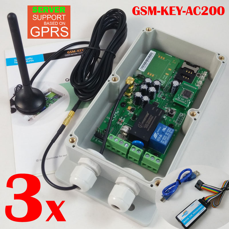 Express delivery GSM Remote control and access controller for garage door sliding gate opener via gsm key dc200 direct factory gprs server supported sliding gate gsm security remote access opener maximum working phone 200