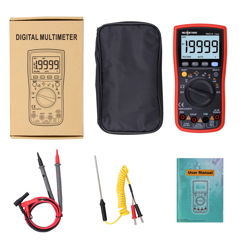 Image 2 - RM219 True RMS 19999 Counts Digital Multimeter NCV Frequency Auto Power off AC DC Voltage  Ammeter Current Ohm-in Multimeters from Tools