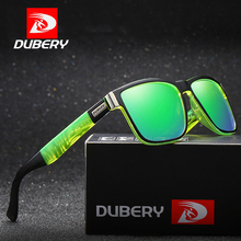 DUBERY Brand Polarized Sunglasses Men Driver Shades Male Vintage Sun Glasses For Spuare Mirror Summer Oculos D518