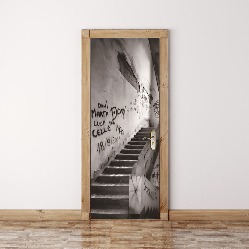 Modern Abstract Graffiti Art Wall Painting Wall Graffiti Stairs 3D Mural Wall Paper Living Room Bedroom Door Decoration Sticker 0329zc0401 home wall furniture decorations diy number painting children graffiti lonely snow wolf painting by numbers