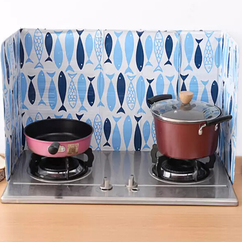 Aluminum Foil Kitchen Cooking Frying Pan Oil Splash Screen Cover Anti Splatter  Shield Guard Fish Flower Pattern In Splatter Screens From Home U0026 Garden On  ...