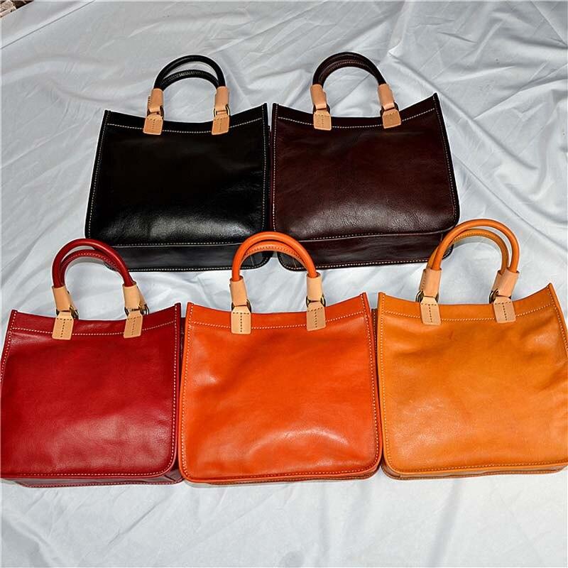 EUMOAN modele wybuchu kolor pierwsza warstwa skóry wołowej torebki proste art torebki ręcznie sadzone zamszowe torebka w Torby z uchwytem od Bagaże i torby na  Grupa 3