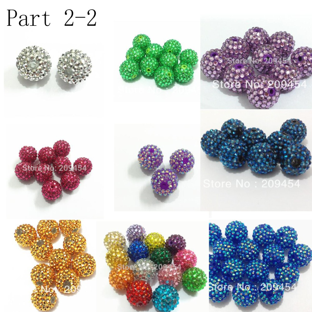 Wholesale Part 2 2 12mm 14mm 16mm 18mm 20mm 22mm Resin Rhinestone Beads For Fashion Chunky Jewelry Diy Hand Made Design Hot Sale 258d1 Cicig