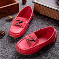 New Boys Girls Shoes Soft Sole Slip On Leather Loafers Shoes Baby Boat Shoes Children Sneakers (Toddler/Little Kid/Big Kid)